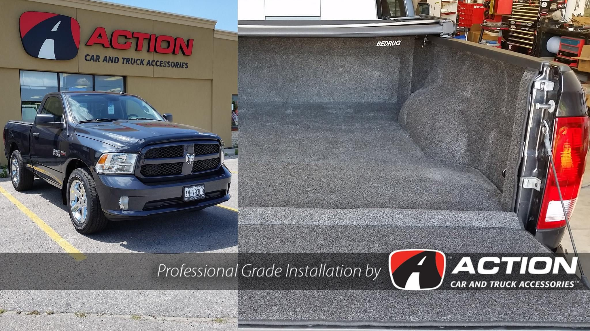 2016 Ram 1500 complete with a bed liner by BedRug