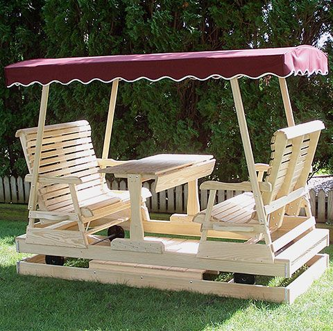 Double Glider Swing Plans Woodworking, Patio Furniture Swings And Gliders