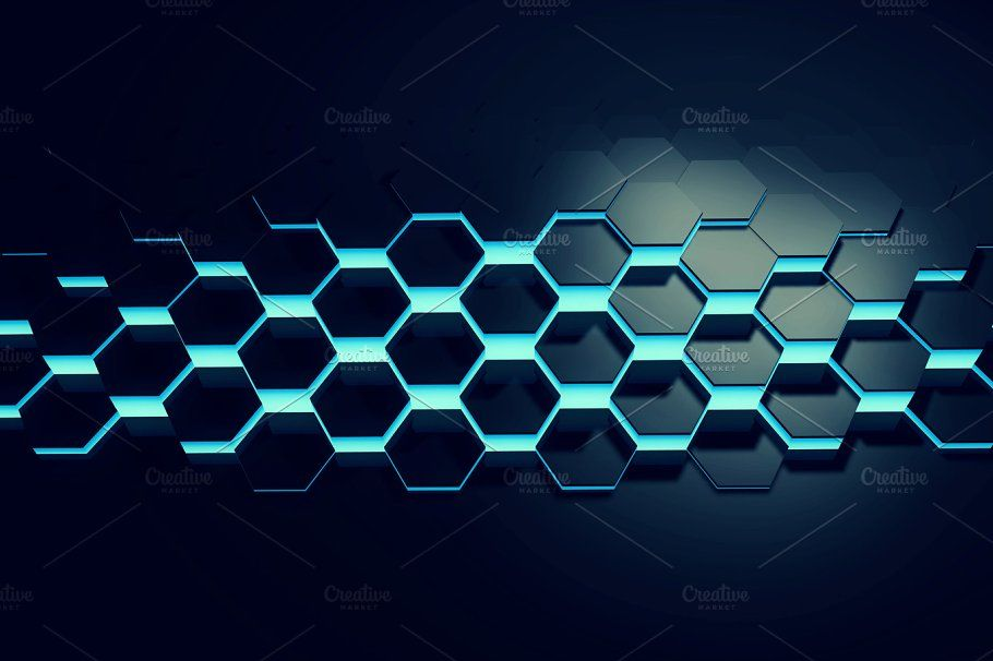 Glowing Blue Hexagon Background Stock Photo Containing Network And Wallpaper Hexagon Background Hexagon Pattern Hexagon Blue and black hexagon wallpaper