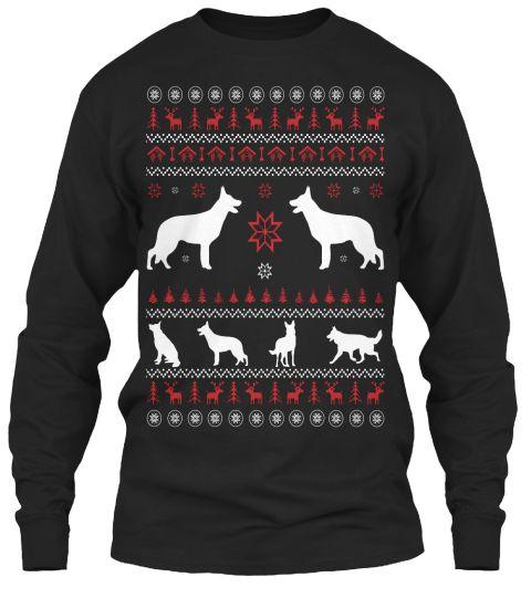 German Shepherd Christmas **Last Day** Black Long Sleeve T
