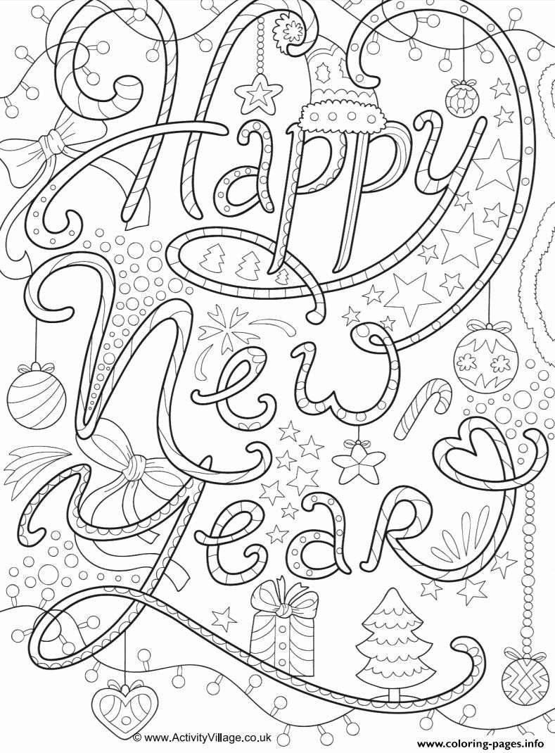 Printable New Years Coloring Pages Unique Coloring Pages For The New Year New Year Coloring Pages New Year Doodle Coloring Pages