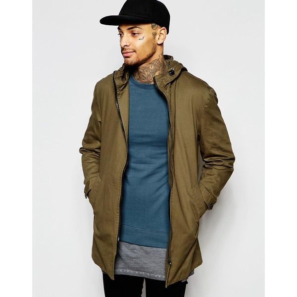 ASOS Festival Lightweight Parka Jacket In Khaki ($45) ❤ liked on ...