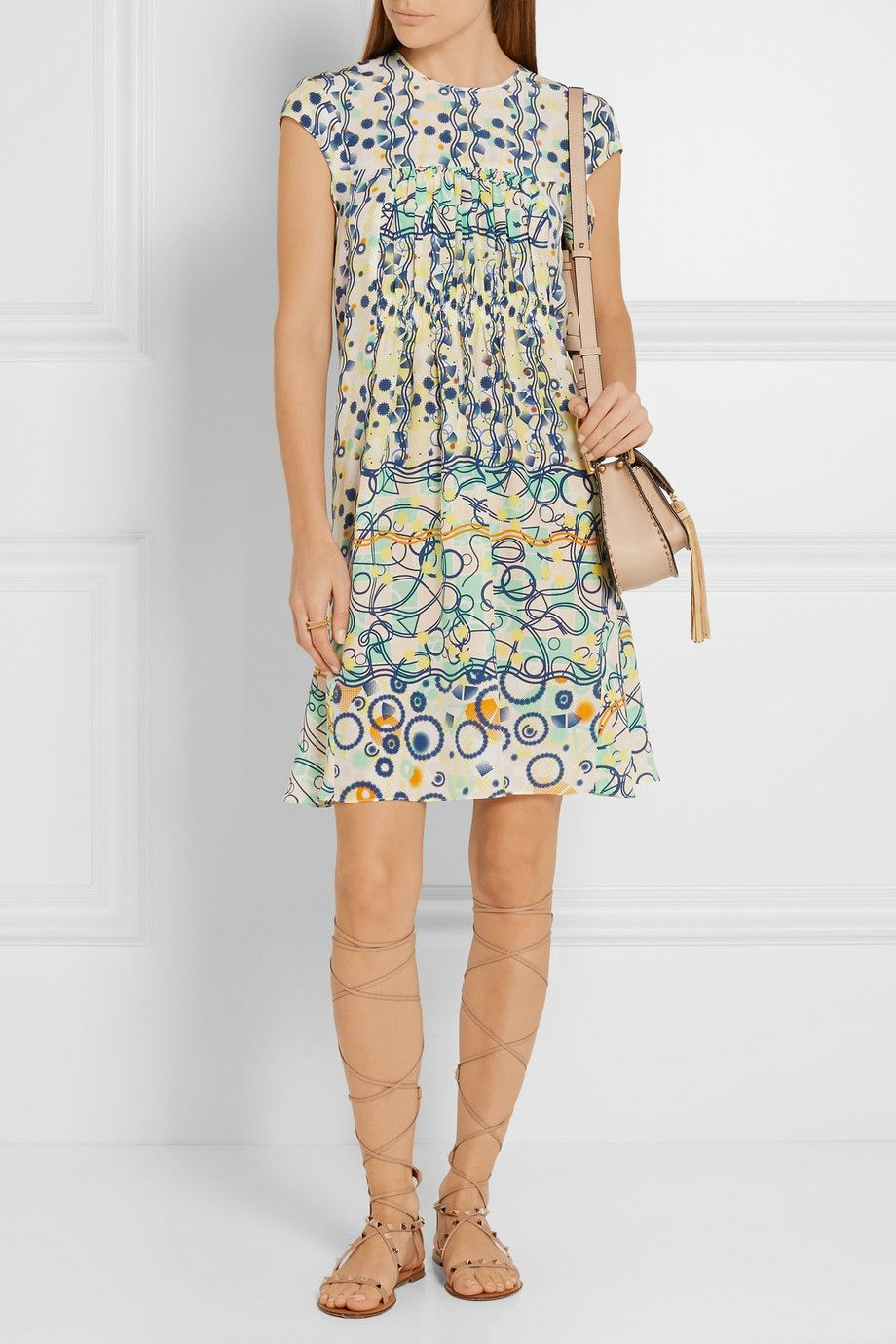 Peter pilotto kali printed washedsilk dress netaportercom