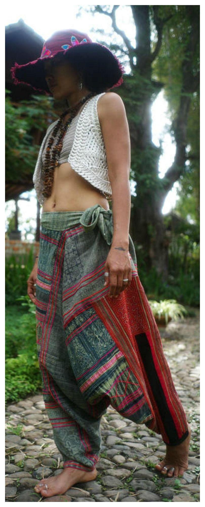 ffaeb9a06f Hmong harem pants, Etsy festival yoga pants, hippie festival pants, drop  crotch pants, hippie pants, mens ethnic hippies women harem pants festival  pants ...
