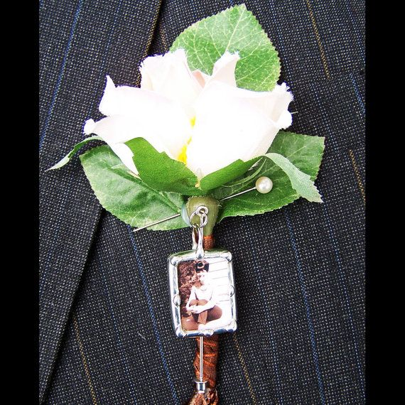 Wedding Brooch Groom Lapel Pin Photo Wedding Pin Brooch Pin Complete Kit Boutonniere Pin Corsage Pin DIY Do It Your Self