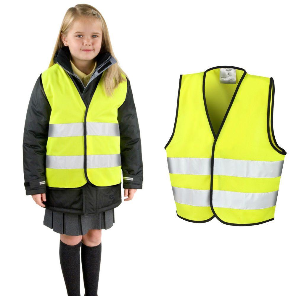 992aadf05 Childrens Kids Hi Viz Safety Vest Hi Vis Waist Coat Fluorescent ...
