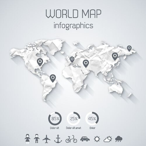 Creative world map and infographics vector graphics 03 free creative world map and infographics vector graphics 03 free gumiabroncs Image collections