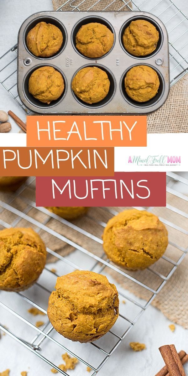 Healthy Pumpkin Muffins (Dairy-Free & Whole Wheat) | A Mind Full Mom
