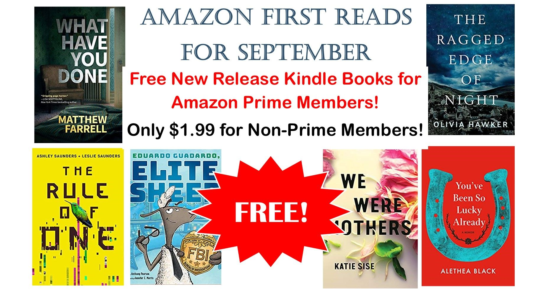 Amazon First Reads Gets You Next Month S New Releases Free W Prime Reading Kindle Books News Release