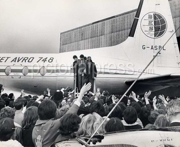 Arriving at Leeds Airport in 1964