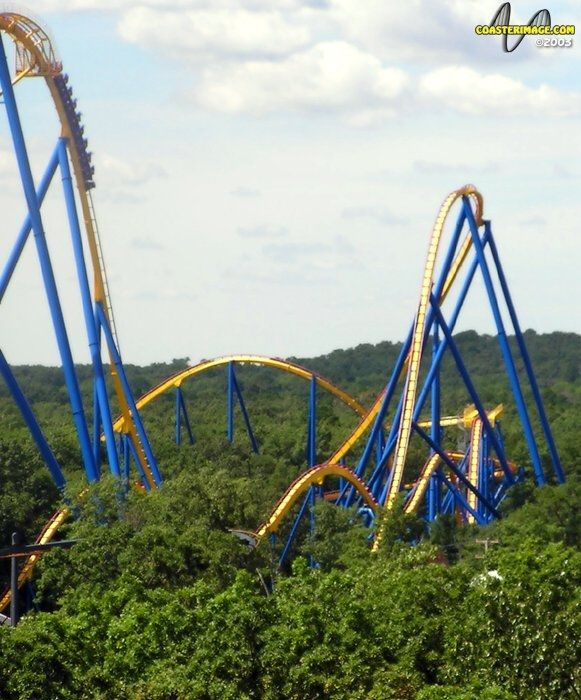 Nitro Rollercoaster Done Six Flags Great Adventure Roller Coaster Pictures Roller Coaster