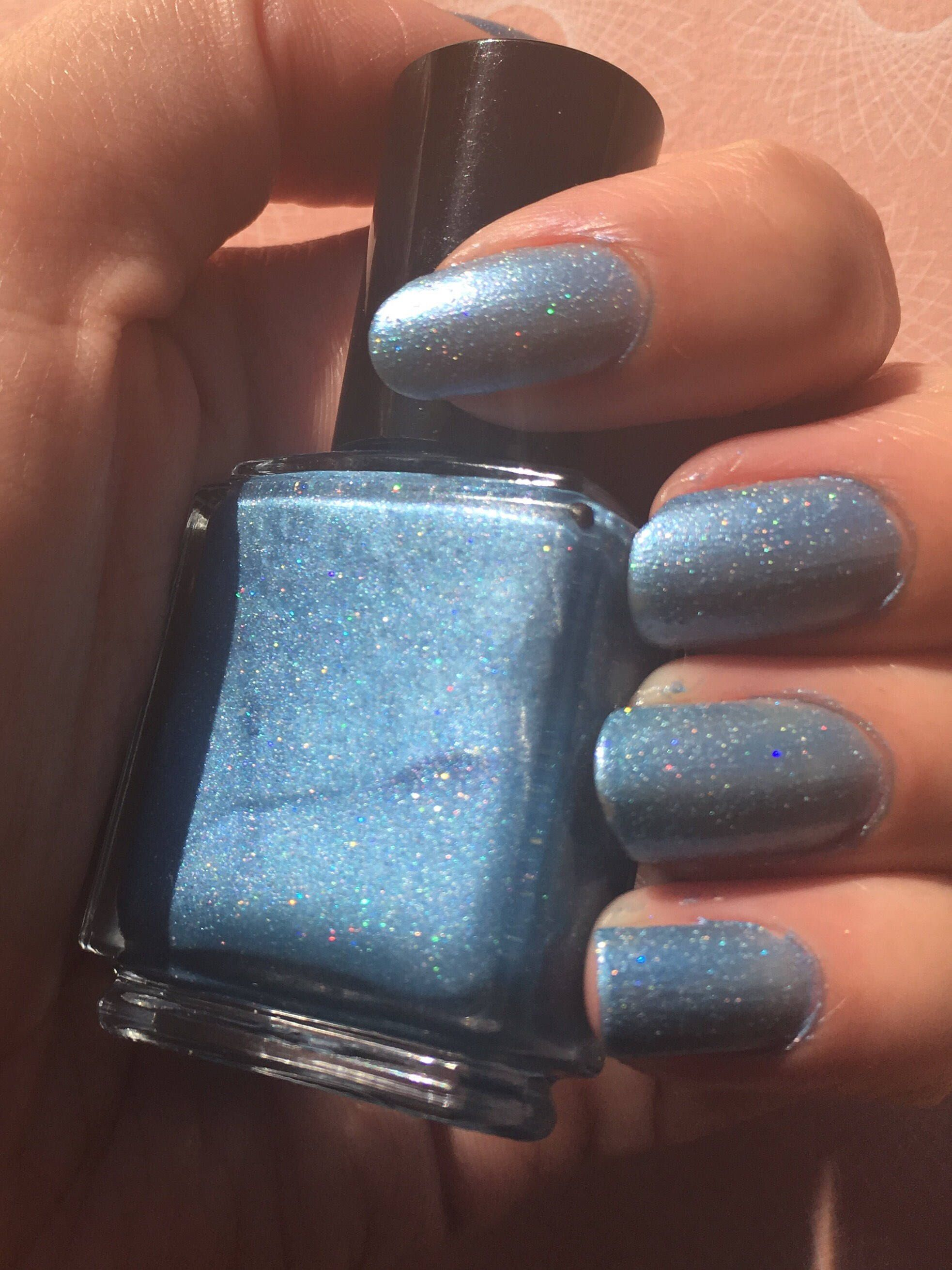Cerulean Ice Blue Holographic Glitter Nail Polish By Magpiecosmetics On Etsy Https Www Listing 550609586