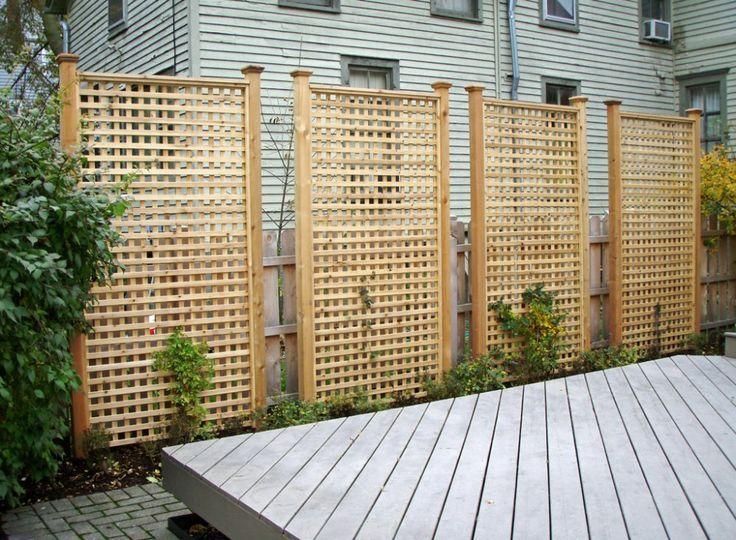 Here Are Tall Rectangular Cedar Lattice Privacy Panels