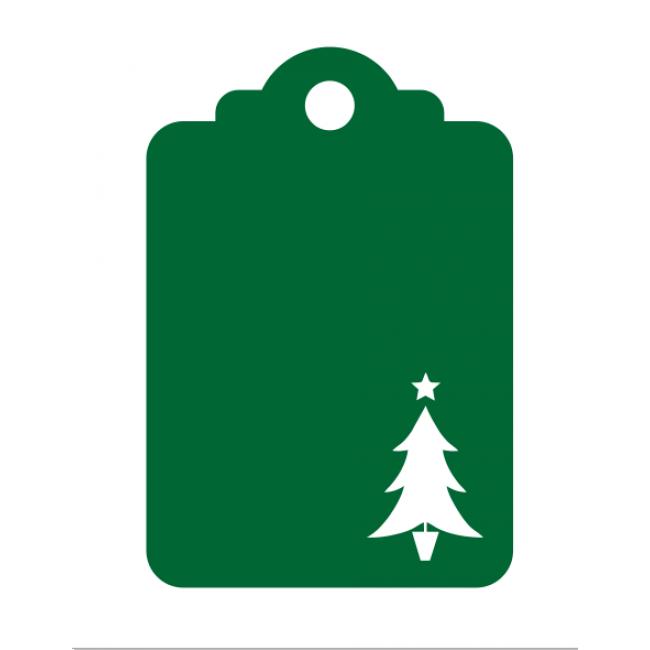 Christmas Tree - Laser Die Cut Tag