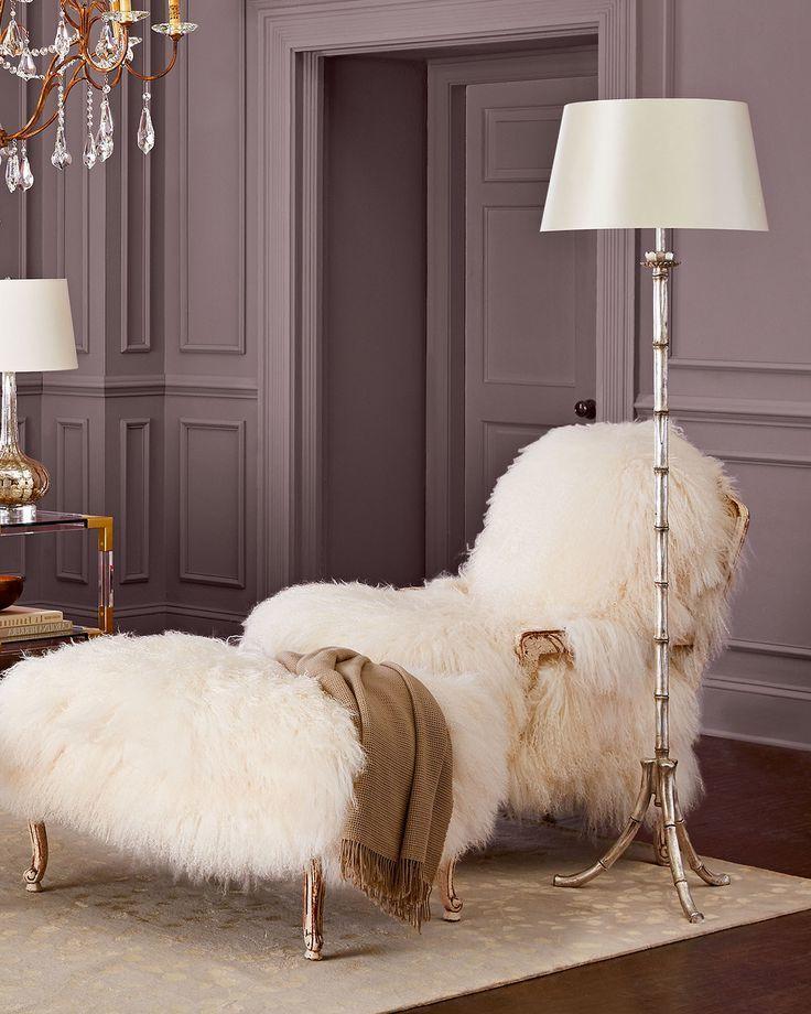 Einrichtungsideen mit Fell kuschelige Möbel für kalte Wintertage! Fur - einrichtungsideen wohnzimmer beige