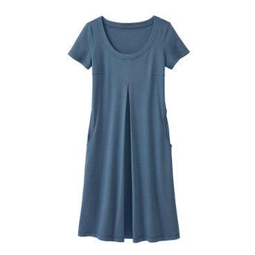 Jerseykleid, rauchblau   Kleider