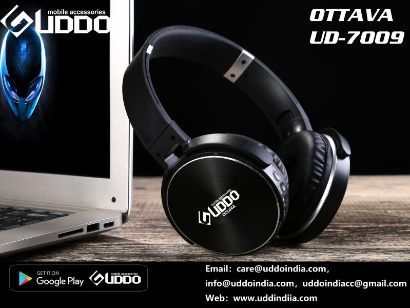 Modrive Uddo Ud 7009 On Ear Bluetooth Wireless Headphones Carbon Black Modishombre The Luxury You Desire Headphones Wireless Headphones Wireless