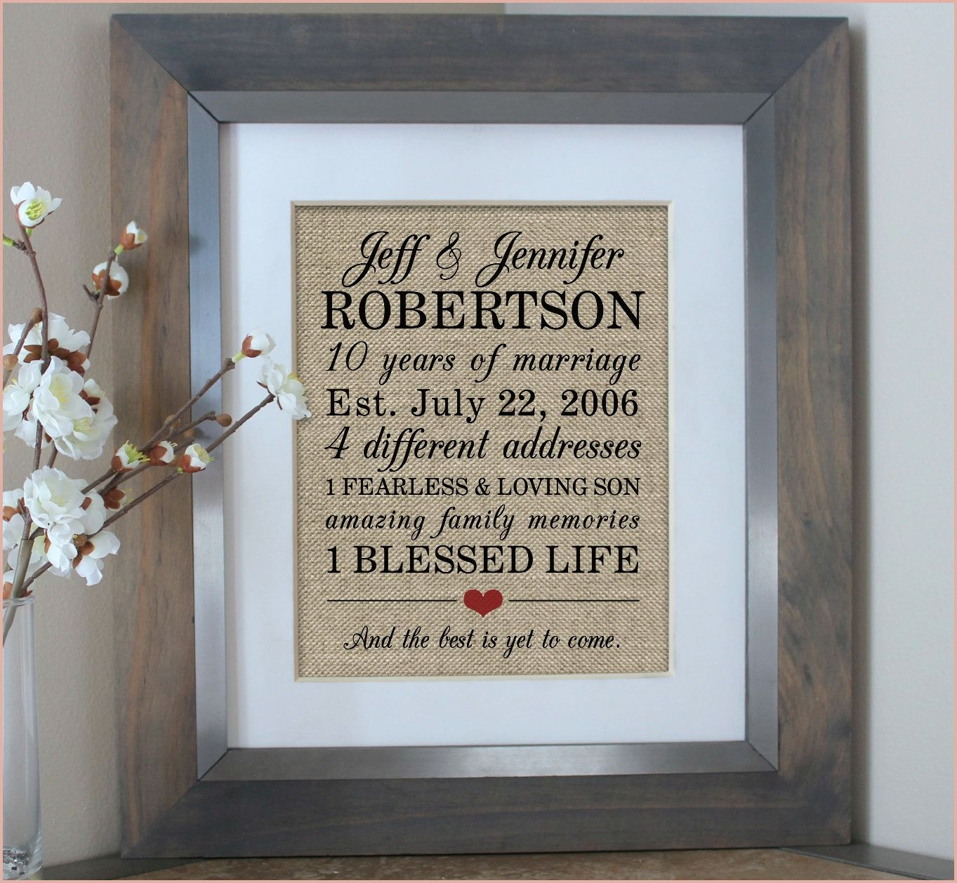 15 Perfect 10th Wedding Anniversary Gift Wedding gifts