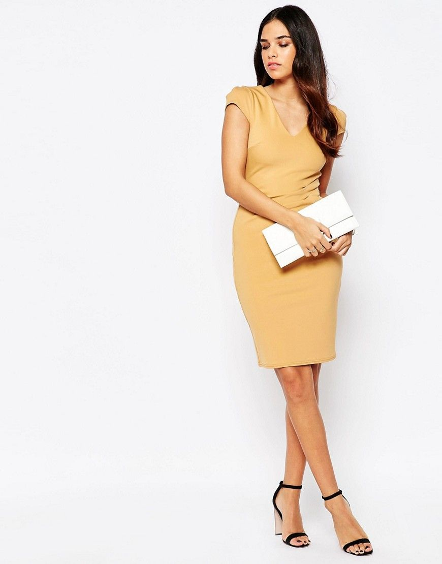 Image 4 of Jessica Wright Aliz Pencil Dress With Ruched Front