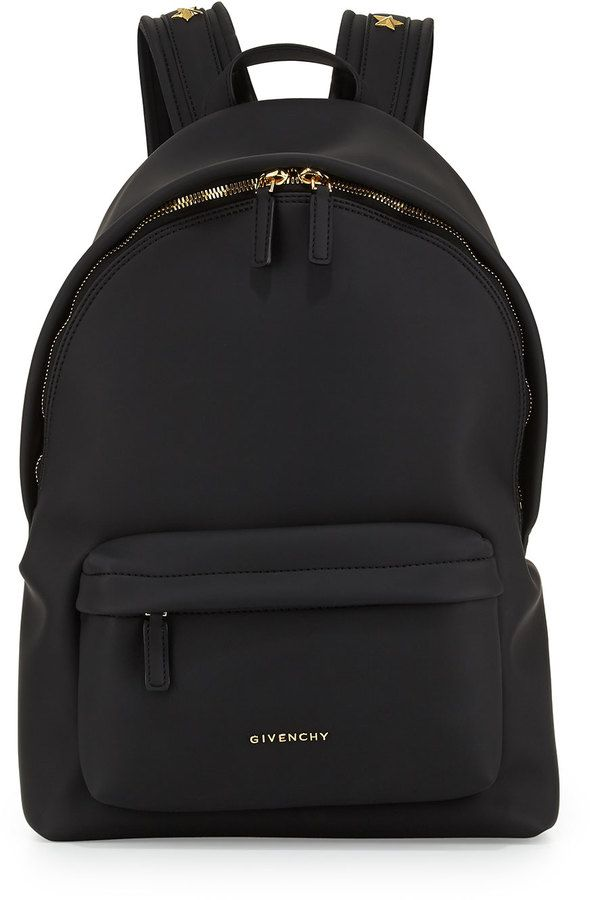 Givenchy Rubber-Effect Star-Studded Backpack