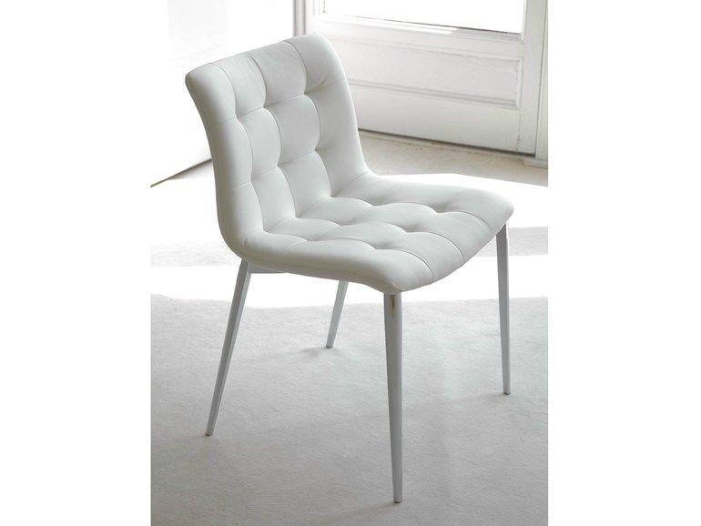 Sedie Sala ~ Sedia imbottita in pelle kuga collezione sedie by bontempi casa