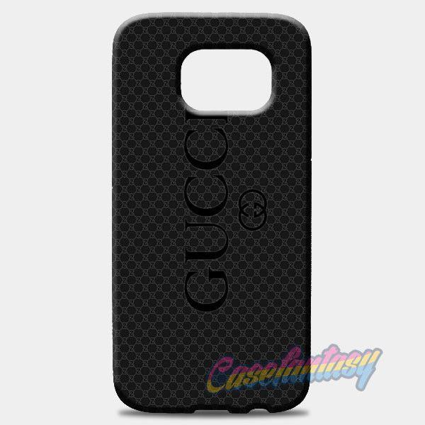 san francisco 7a59e 03109 Gucci Black Emboss Samsung Galaxy S8 Plus Case | casefantasy | phone ...