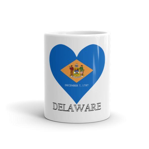 Delaware Heart State Flag Mug