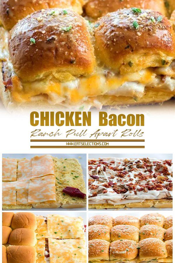 Chicken Bacon Ranch Pull Apart Rolls