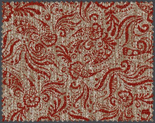 This Textile Weave Strongly Supports Pattern Because It Has A Complex Design Of Shapes Weaving Weaving Designs Jacquard Weave