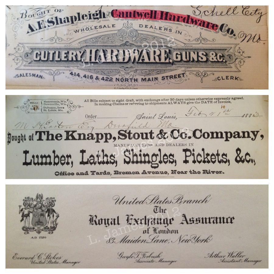Late 1800s Letterhead Missouri Court Records Circuit Court