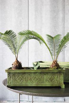 Decorative Green Planters - Set of 2