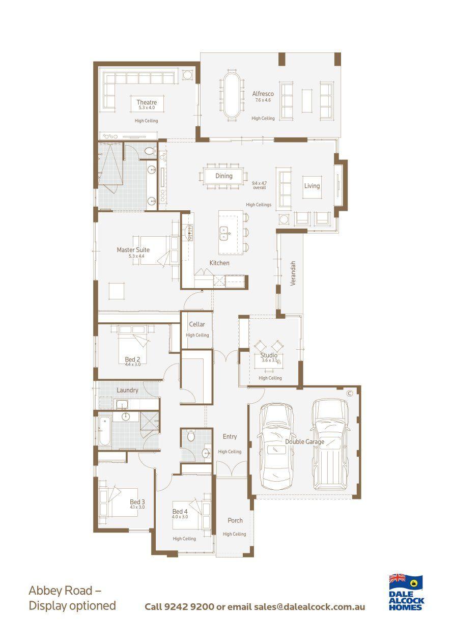 Abbey Road Floorplan Floor Plans New Home Designs Display Homes