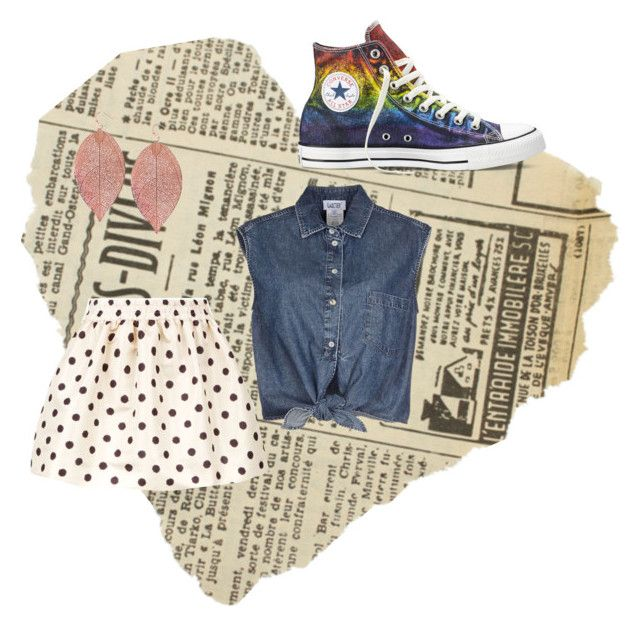 """School Days"" by lisaliu24 on Polyvore featuring moda, RED Valentino, Jean-Paul Gaultier, Converse e Humble Chic"