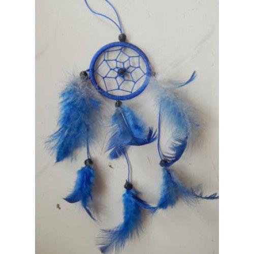 Dreamcatcher Warna Biru Diameter 6 Cm Tinggi Keseluruhan 30 Cm
