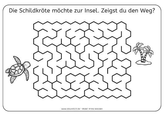 Tag 24: Labyrinth - | Etkinlikler | Pinterest | Worksheets ...