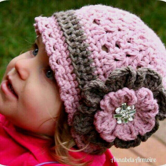 Beanie - blom | hekel goedjies | Pinterest | Basteln