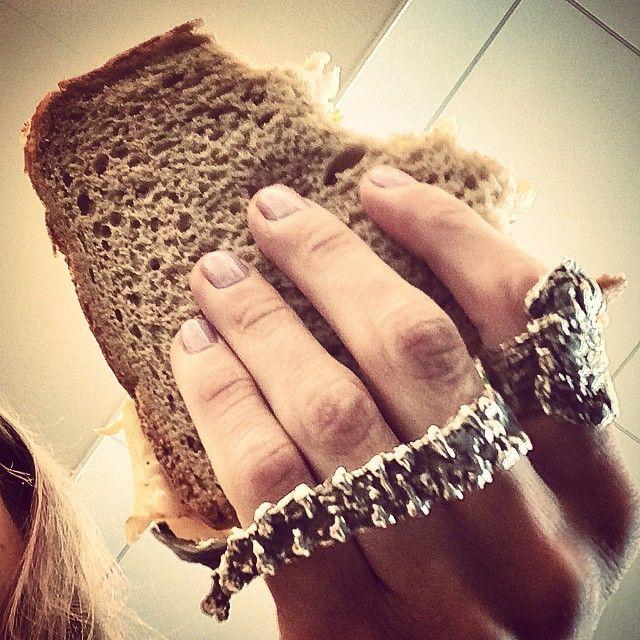 Now that I've come to terms with the fact that #JFK is now my second home I think it's tame I officially add the $10 #turkeysanwich as the 6th food group! #BHM #brooklynheavymetal #airport #jewelry #silver #patina #tetacleduster #bark #ring (at John F. Kennedy International Airport Terminal 4)