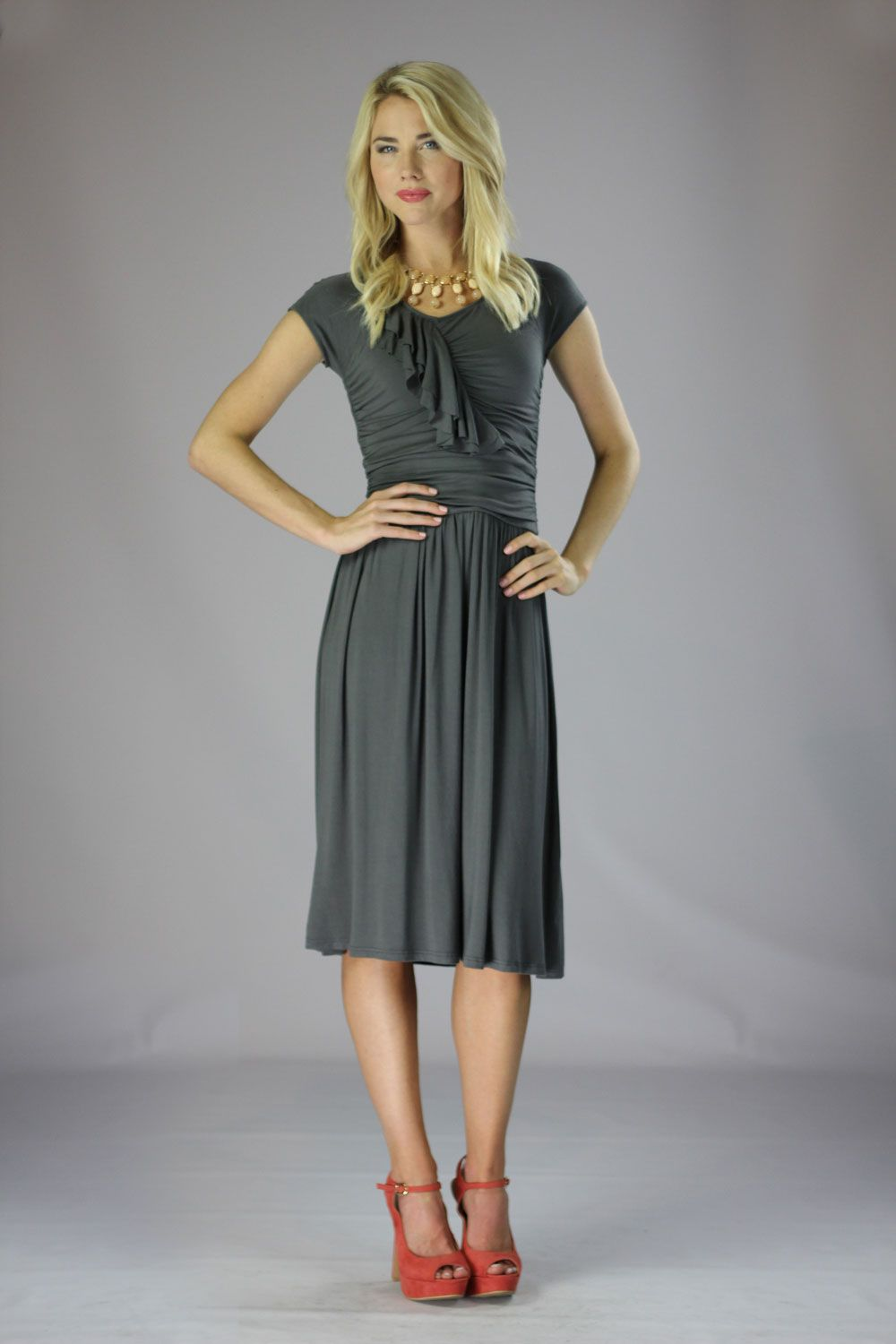 Modest Dresses in Grey