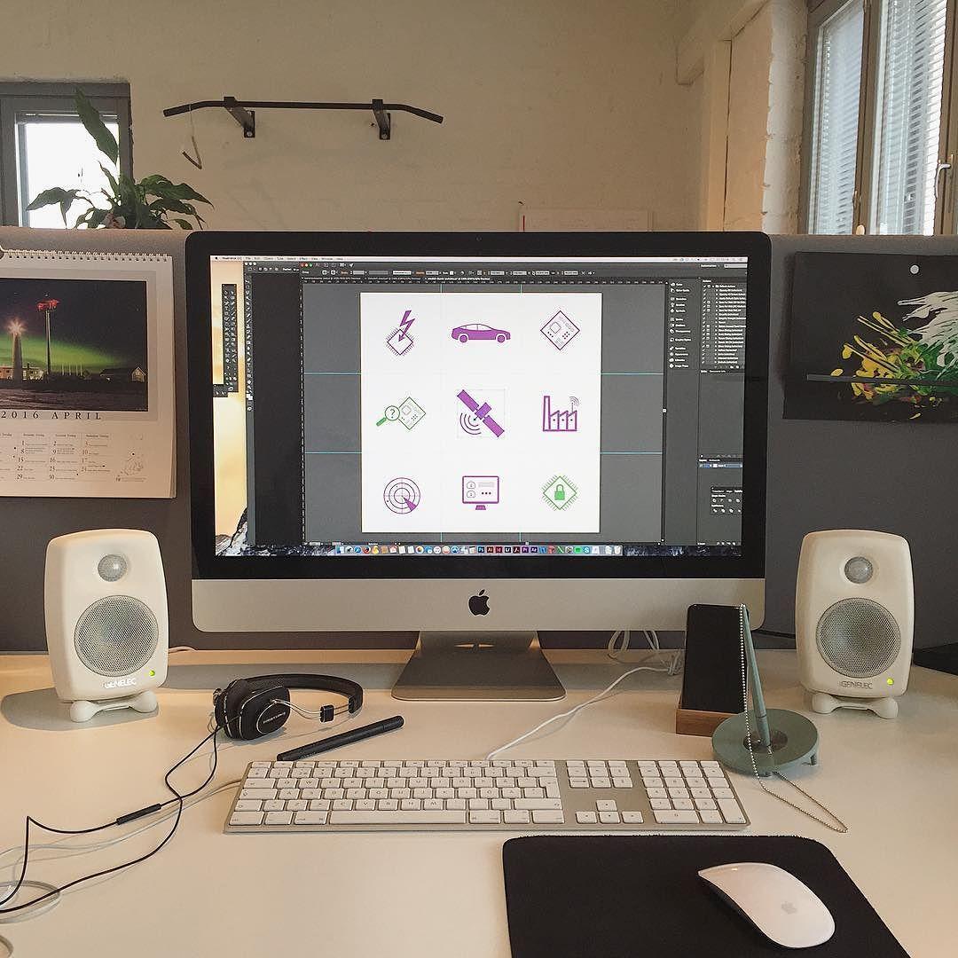 Tänään on saanut piirtää! #iot #teollineninternet #icons #vectorillustration #genelec by mosesagency