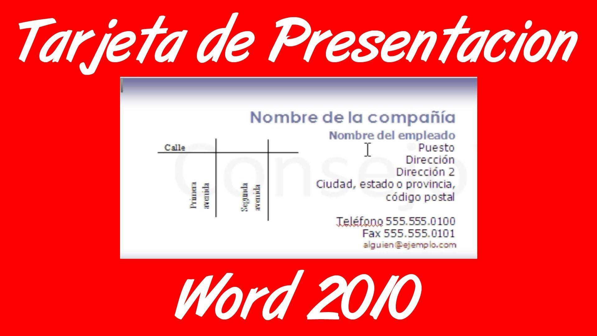 Como hacer una tarjeta de presentacion en word 2007 2010 business como hacer una tarjeta de presentacion en word 2007 2010 business cards reheart Gallery