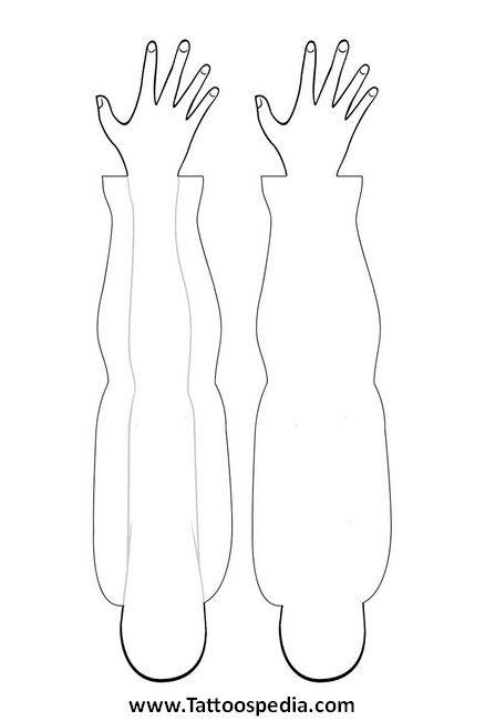 Forearm Template: Tattoo Sleeve Arm Template 5