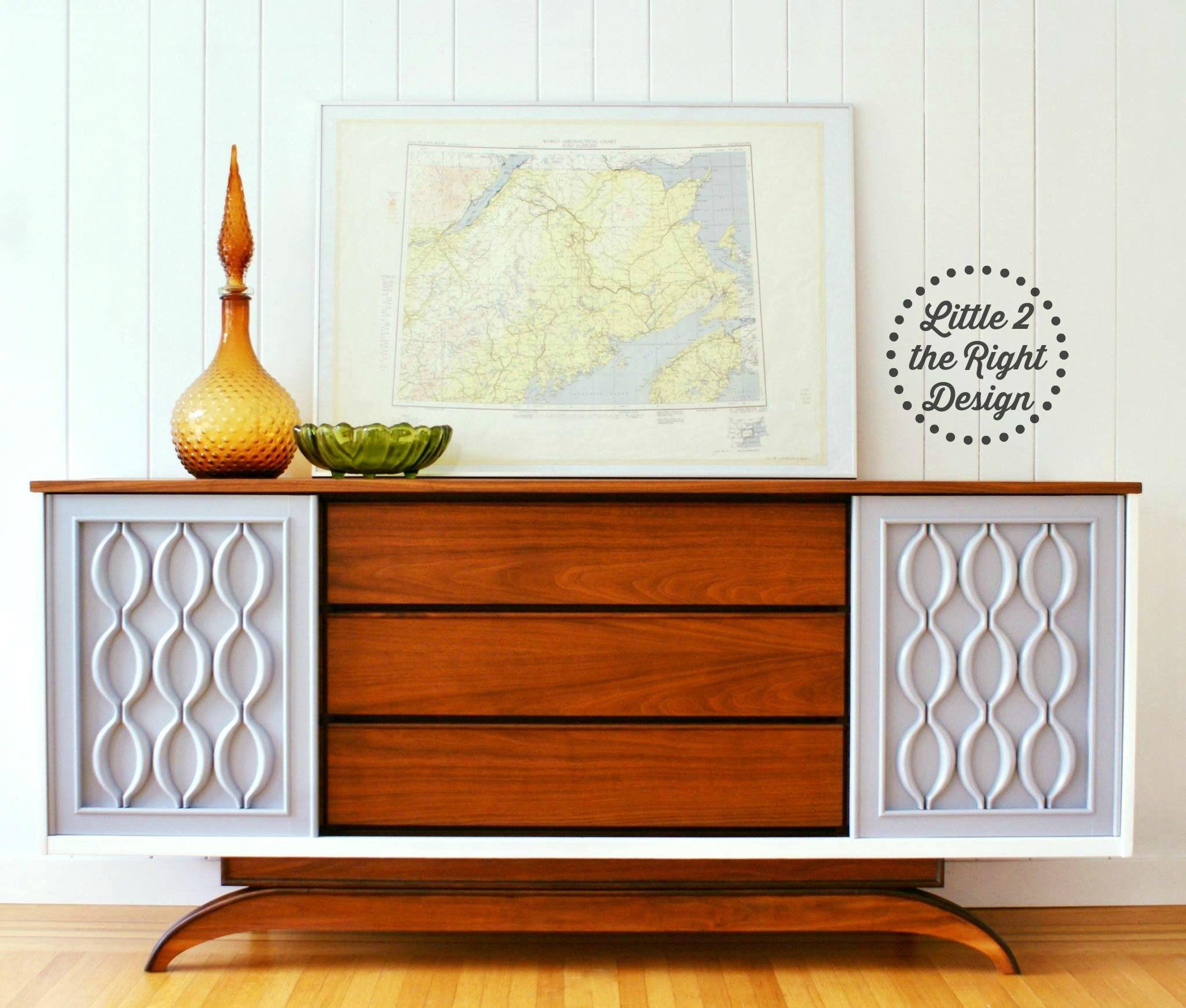 mid century modern furniture restoration. Amazing Transformation Of A #mcm Mid Century Modern VicArt Credenza Features Restored Walnut Top, Furniture Restoration