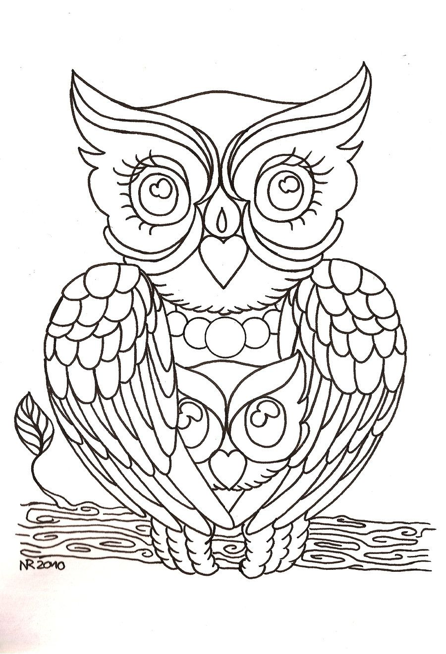 tattoo owl coloring pages - photo#7