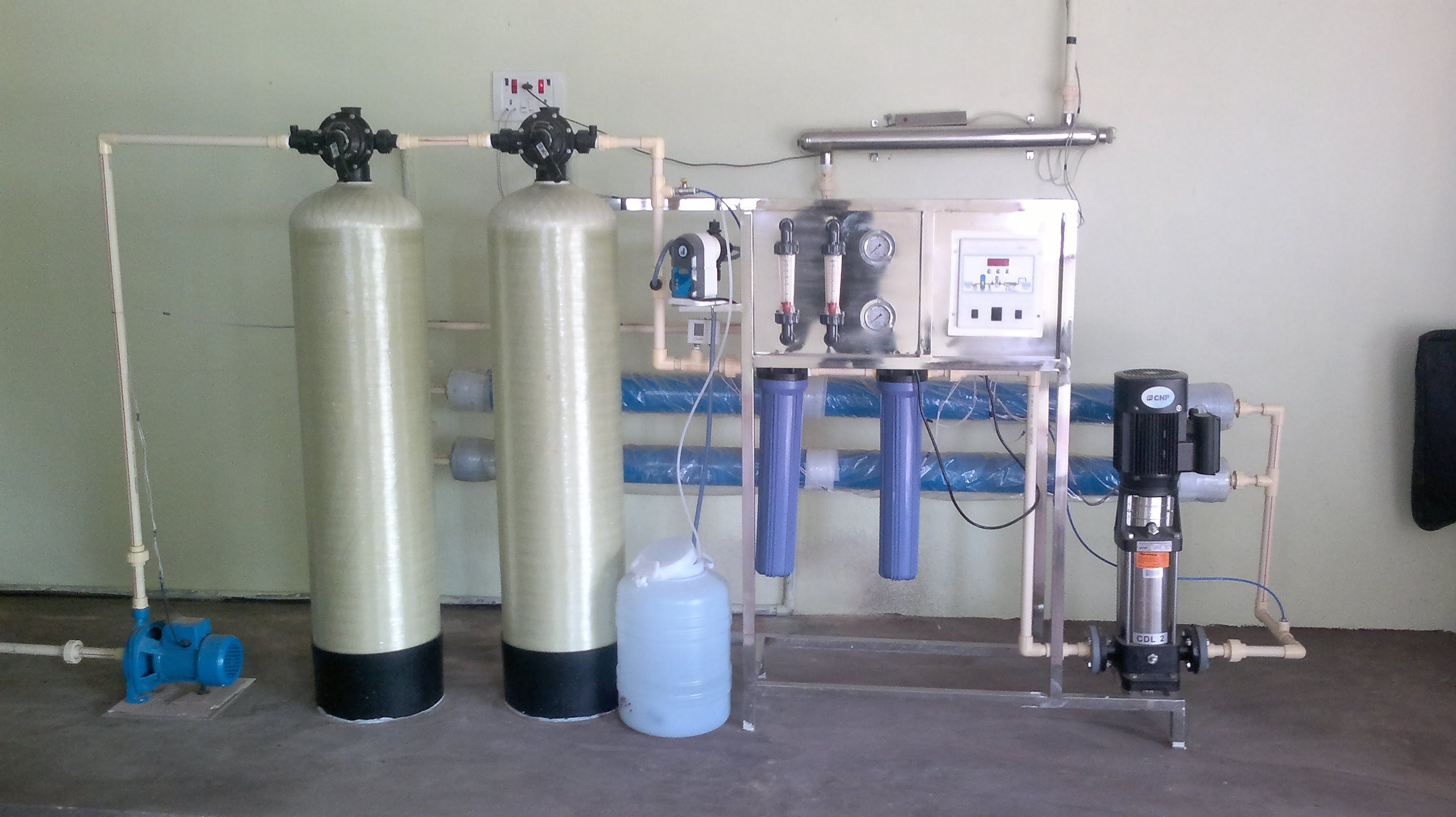 1000 Semi Automatic Liter per hour RO Reverse Osmosis Mineral