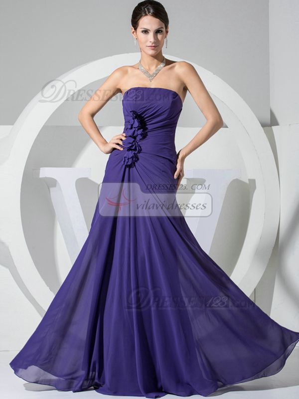 $114.89High Couture Gorgeous A-line Chiffon Tube Top Flower #Chiffon #Bridesmaid #Dresses