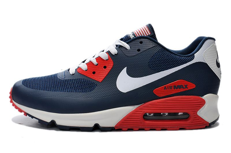 abffa15cad Men's Sneakers Nike Air Max 90 Hyp Prm dark blue / white Cheap Price USA  Sale Contact: topshoesale@foxmail.com