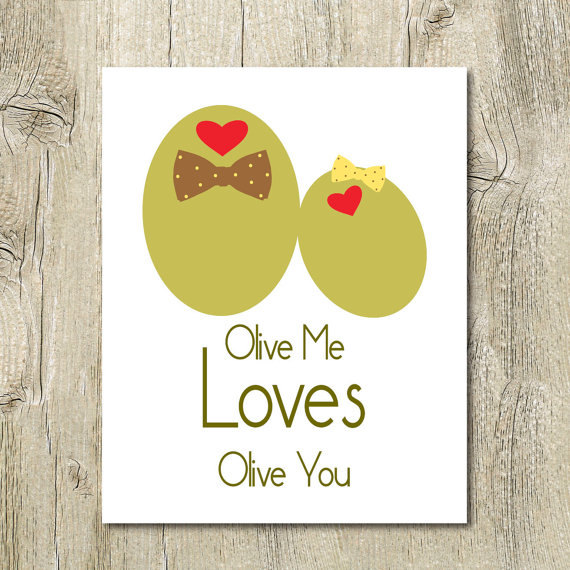 Olive you funny love card download cute unique anniversary card for ...