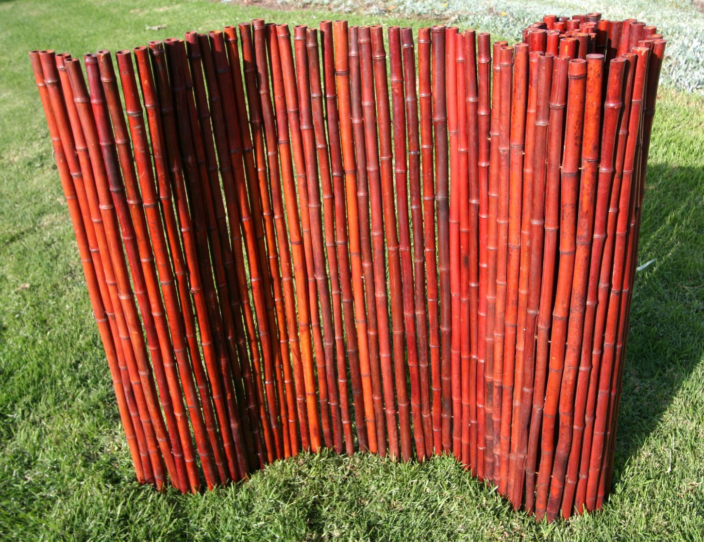 Bamboo fence panels are easy to install and can be used to