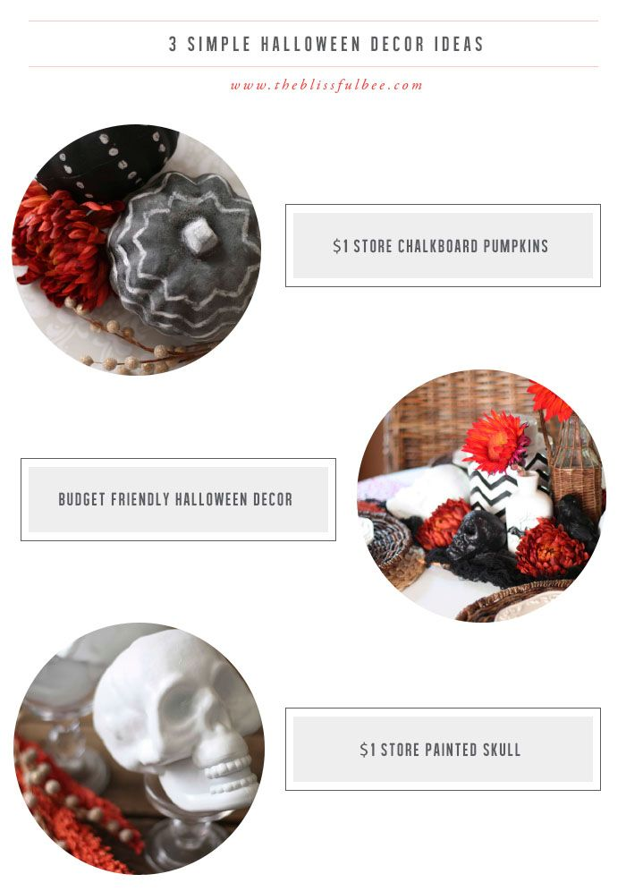 Super affordable Halloween projects using items from the $1 store!! image via The Blissful Bee Blog