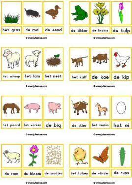 woordkaarten lente met lidwoord thema peuter thema